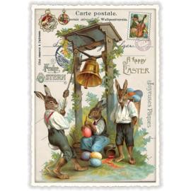 Paaskaart - Happy Easter glitterkaart