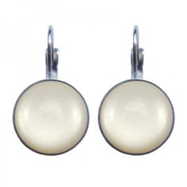 Oorbellen Dots - Greyish Pearl
