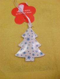 Kerstboom - Wit/blauw