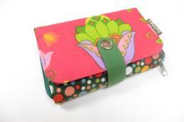Double printed wallet Bloem - Huisteil
