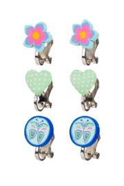 Clip oorbellen blauwmint - Souza