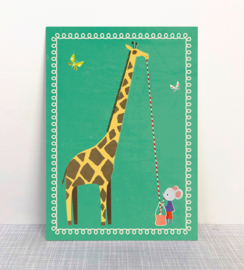 Monimari - Giraf met muis kaart