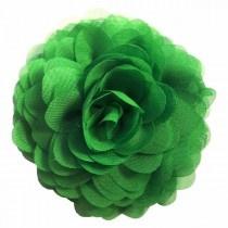 Chiffon bloemcorsage - Kelly green