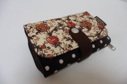 Double printed wallet Roosjes - Huisteil