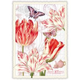 Tulpen glitterkaart