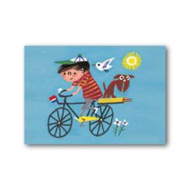 Fiep Westendorp - Jongen op de fiets kaart