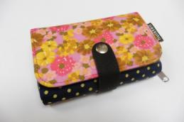 Double printed wallet pink - Huisteil