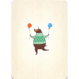 Party bear kaart