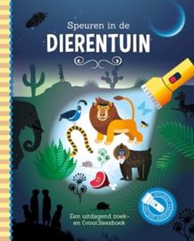 Zaklantaarnboek : Speuren in de dierentuin