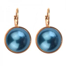 Oorbellen Dots -Heritage blue pearl GP