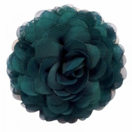 Chiffon bloemcorsage - Pine