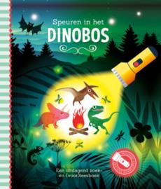 Zaklantaarnboek : Speuren in het dinobos