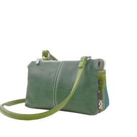 Noi- Noi schoudertas Chirp : green - turquoise