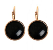 Oorbellen Dots - Shiny black
