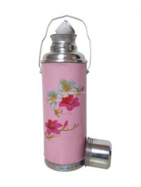 Thermoskan roze - Bloemen