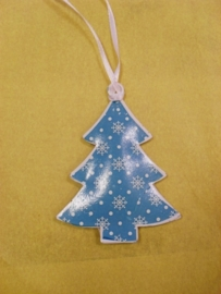 Kerstboom - Sneeuw blauw