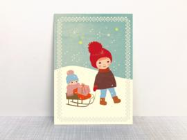 Monimari Kindjes in de sneeuw