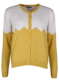 Danefae Olsen cardigan Dusty Yellow/chalk