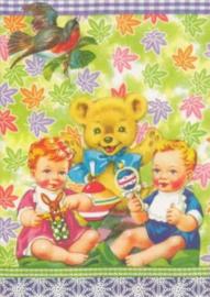 Tweeling kaart  jongen - meisje