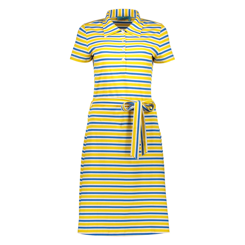 Bakery Ladies - Polo Dress lemon/kobalt