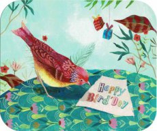 Happy bird'day kaart