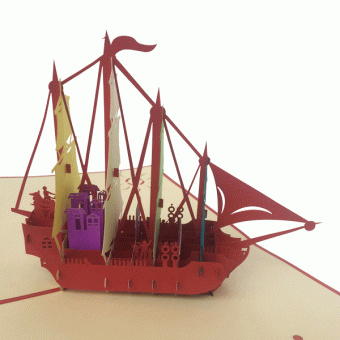 Zeilschip kaart