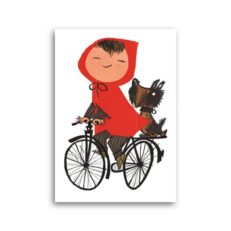 Fiep Westendorp - Meisje op de fiets kaart