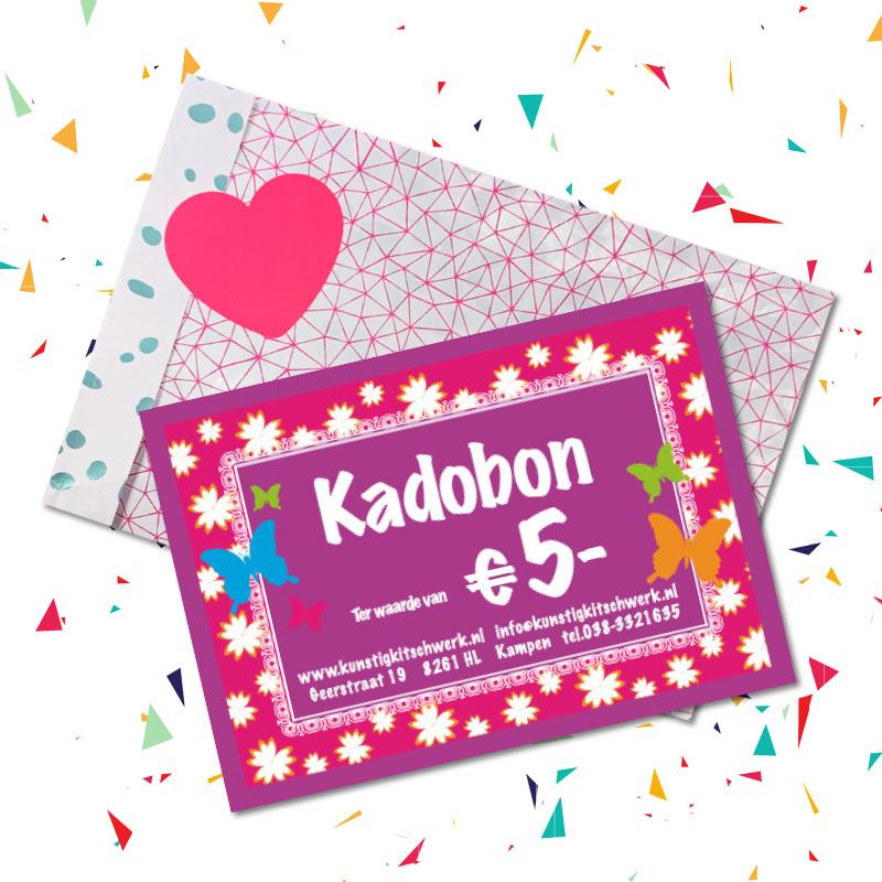 Kadobon van € 5  van Kunstig Kitschwerk