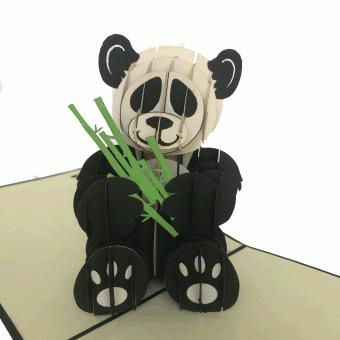 Panda pop-upkaart