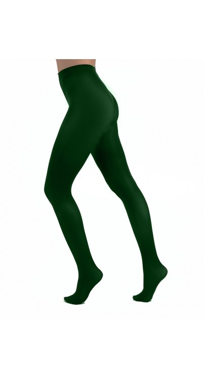 Opaque panty  50 denier Curvy - Forest green