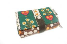 Double printed wallet Margrietjes - Huisteil