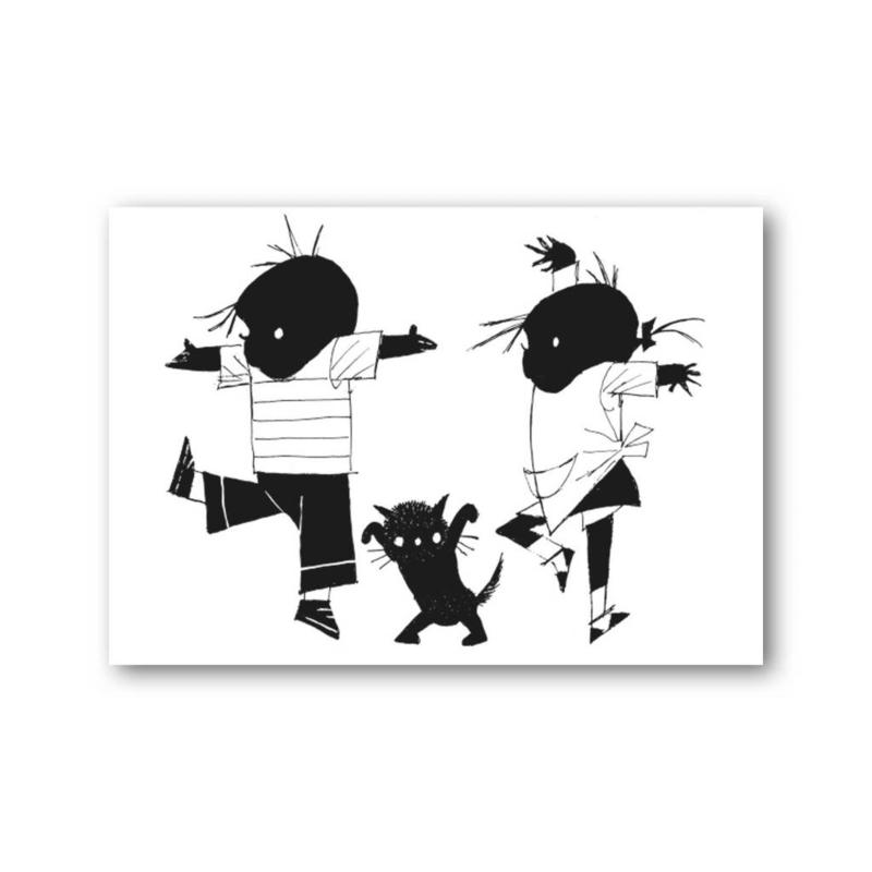 Fiep Westendorp - Jip en Janneke dansen kaart