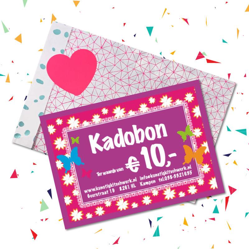 Kadobon van € 10 van Kunstig Kitschwerk