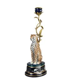 Candelholder Leopard