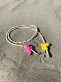 KIDS Sunnycords - roze/ geel