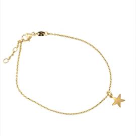 14 karaat armband met ster bedel