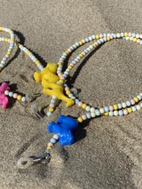 KIDS Sunnycords - blauw/ geel