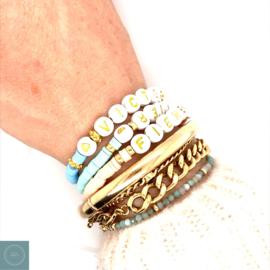 Gouden naam armbandje