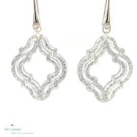 Silver sparkle statement oorbellen
