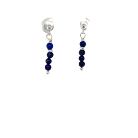 Oorstekers Lapis Lazuli - Zilver