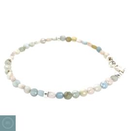 Armband opaal met zilver