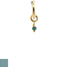 Oorring geboortesteen Mei - Emerald