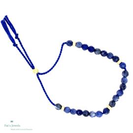 Lapis Lazuli zijde draad armband