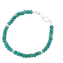 Turquoise armband zilver