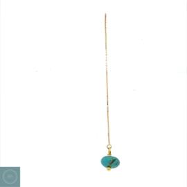 Turquoise ketting oorbellen