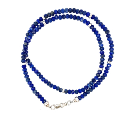 Lapis Lazuli Ketting met Musqeton sluiting