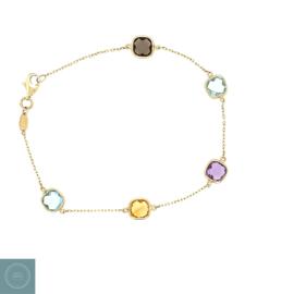 14 karaat quartz armband