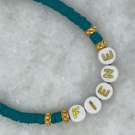 Gouden naam armband