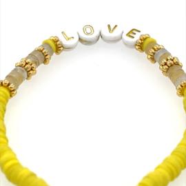 Naam armbandje - natuursteen - yellow