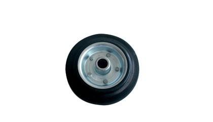 Rubber wiel op stalen velg Ø 125/15 mm